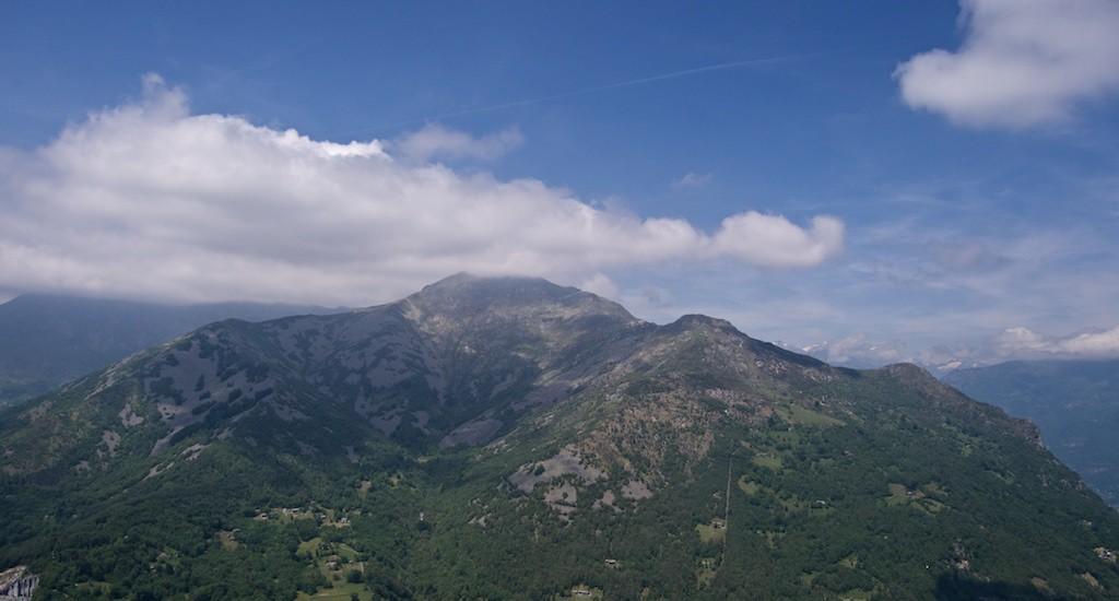 Gleitschirm Startplatz Monte Cavallaria Piemont
